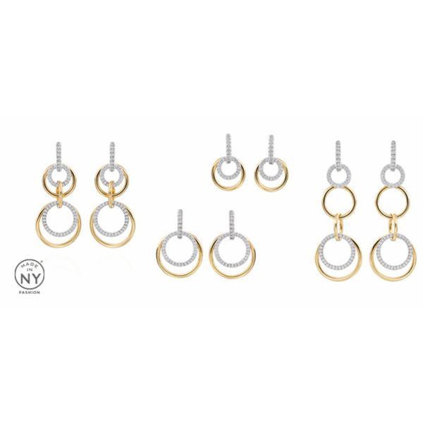 18K Convertible Diamond Earrings Image 2 Parris Jewelers Hattiesburg, MS
