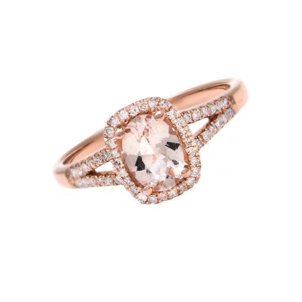Rose Gold Fashion Retangular Prong Moganite Ring