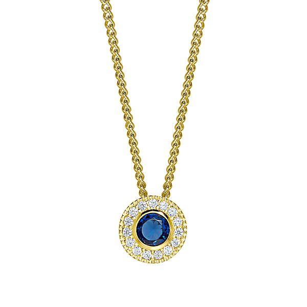 Gold Vermeil September Birthstone Necklace Parris Jewelers Hattiesburg, MS