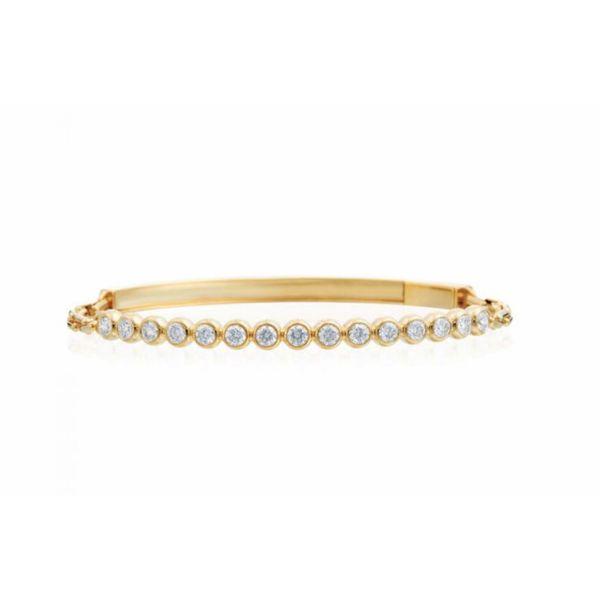 18K Diamond Bezel Bracelet Parris Jewelers Hattiesburg, MS