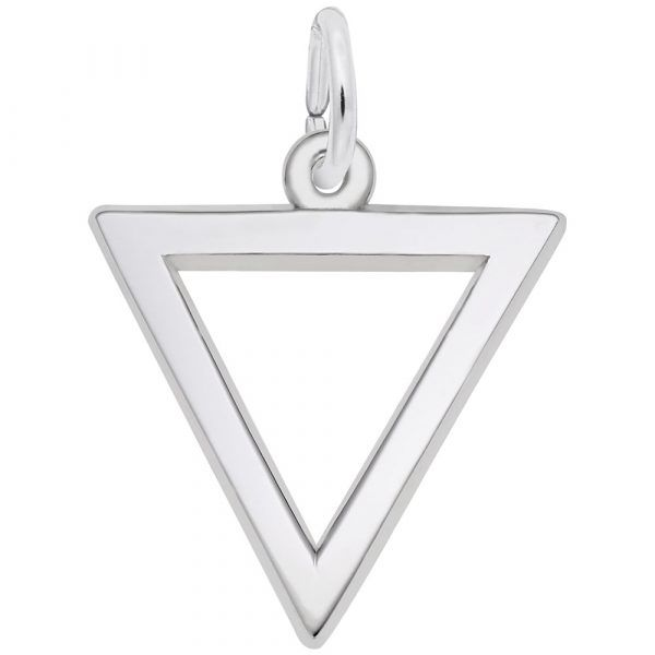 Sterling Silver Triangle Charm