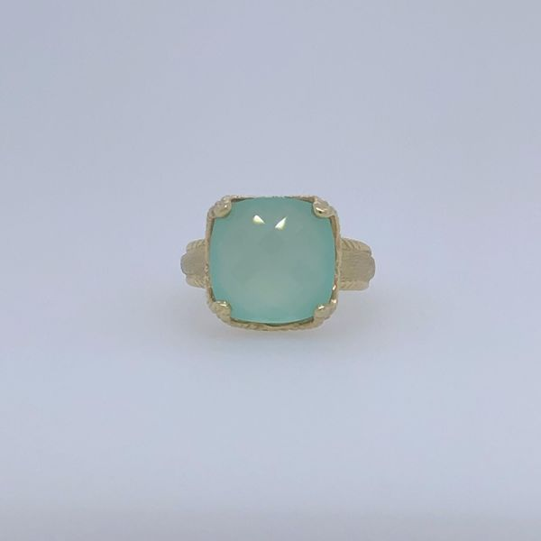 Blue/Green Chalcedony Ring