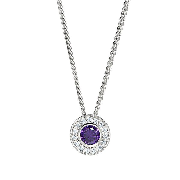 Sterling Silver February Birthstone Necklace Parris Jewelers Hattiesburg, MS