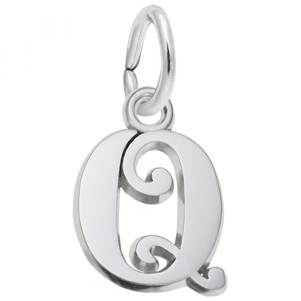 Sterling Silver Initial Charm