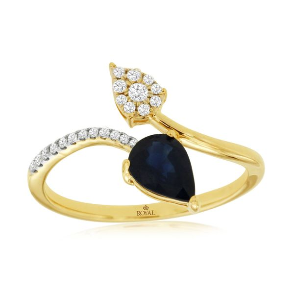 Pear shaped sapphire ring Parris Jewelers Hattiesburg, MS