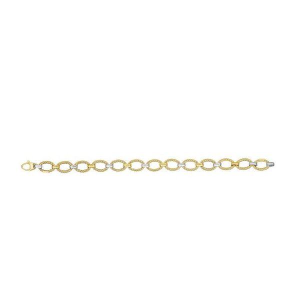 Two-tone Gold Link Bracelet
