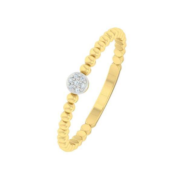 10 kt Yellow Gold Simple Diamond Band