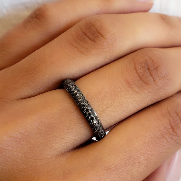 Black  Diamond Pave Band