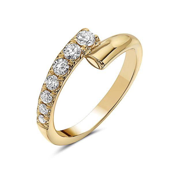 14 kt Yellow Gold Diamond Bypass Ring