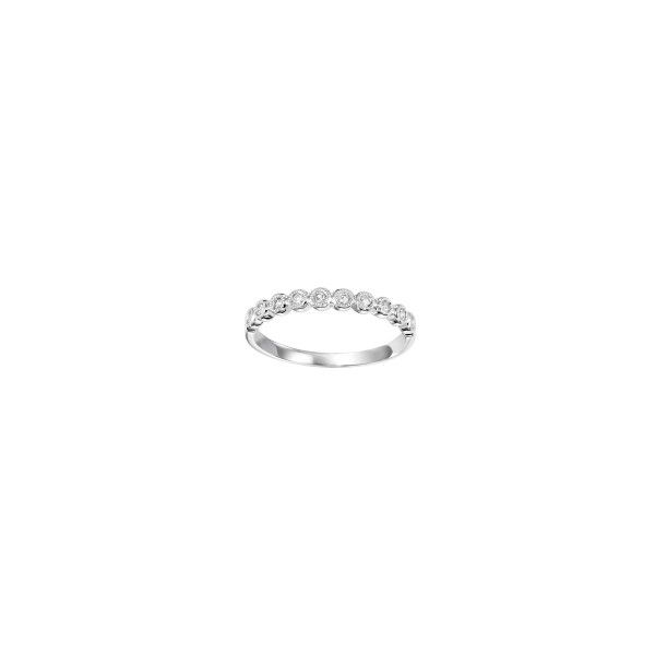 14 kt White Gold Diamond Stackable Band  Parris Jewelers Hattiesburg, MS