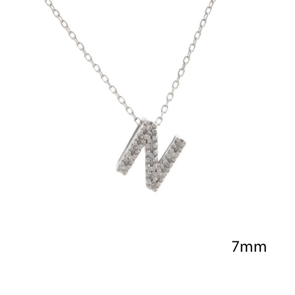 14 kt White Gold Initial