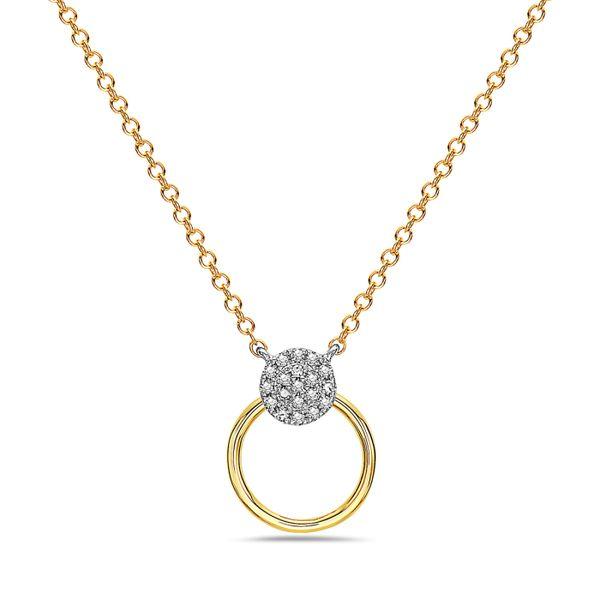 14 kt Two-Tone Diamond Necklace