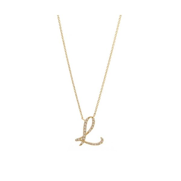 14 kt Yellow Gold Initial Necklace Parris Jewelers Hattiesburg, MS