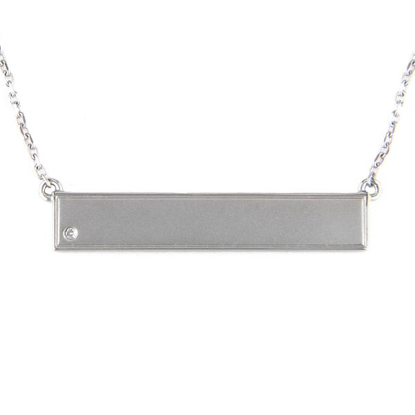 Sterling Silver engravable bar necklace