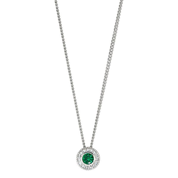 Sterling Silver May Birthstone Necklace Parris Jewelers Hattiesburg, MS