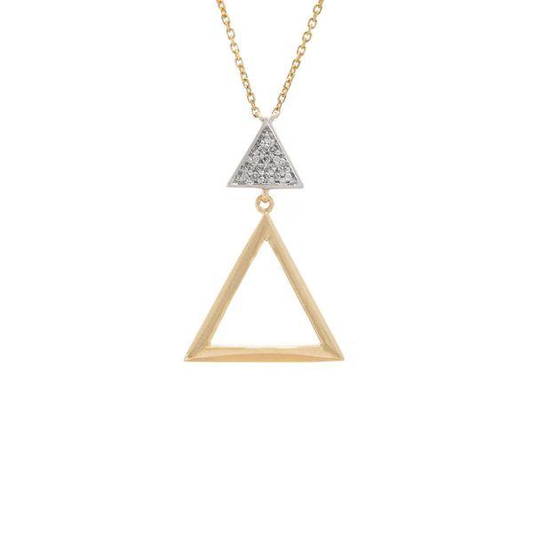 14 kt Gold Triangle Diamond Necklace