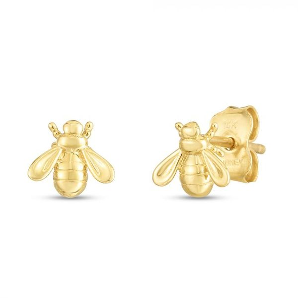 14K Bee Studs