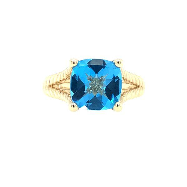 Custom Blue Topaz Ring