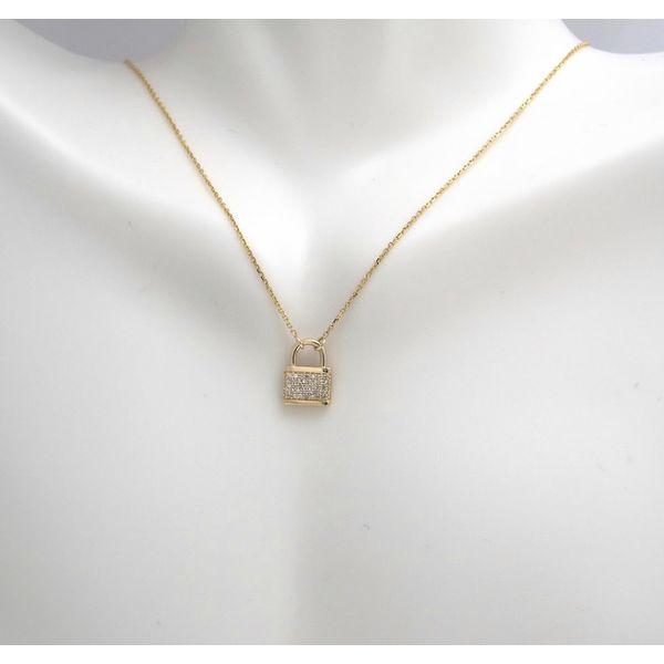 Diamond Lock Necklace