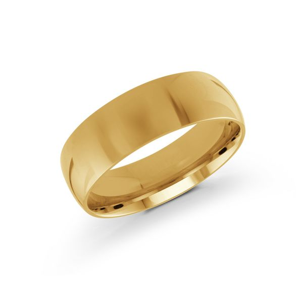 yellow gold 6mm wide wedding band