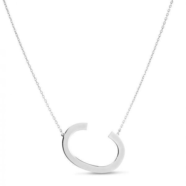 Silver C Letter Necklace