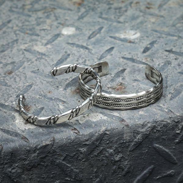 Men's Sterling Silver Cuff Bracelet Image 2 Parris Jewelers Hattiesburg, MS