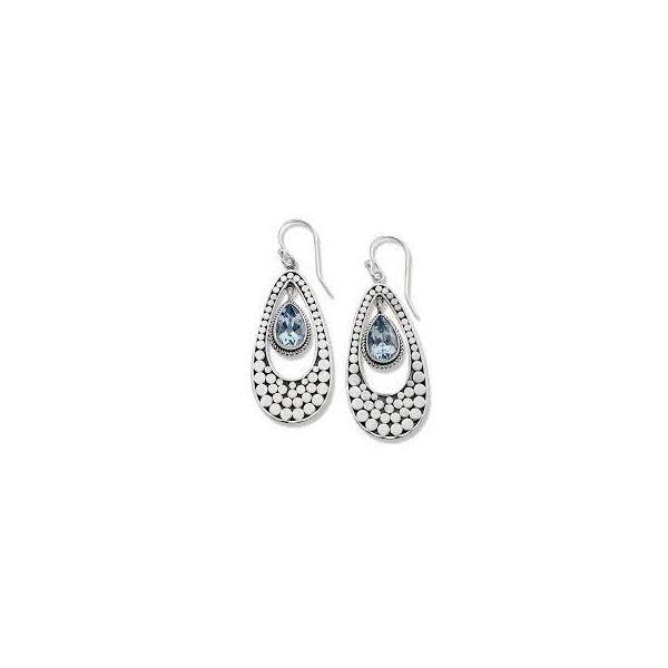 Sterling Silver Blue Topaz Dangle Earring