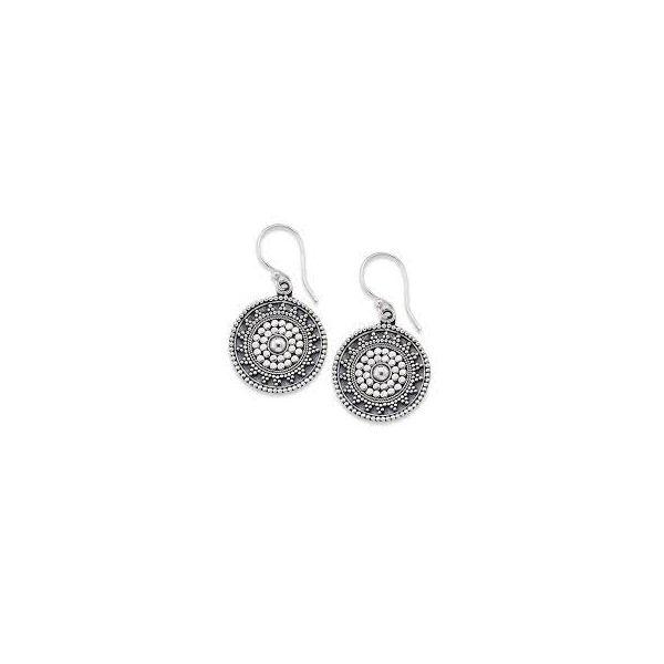 Sterling Silver Round Dangle  Earrings