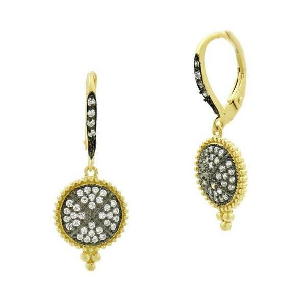 14K Gold Plated Clover Dangle Earrings