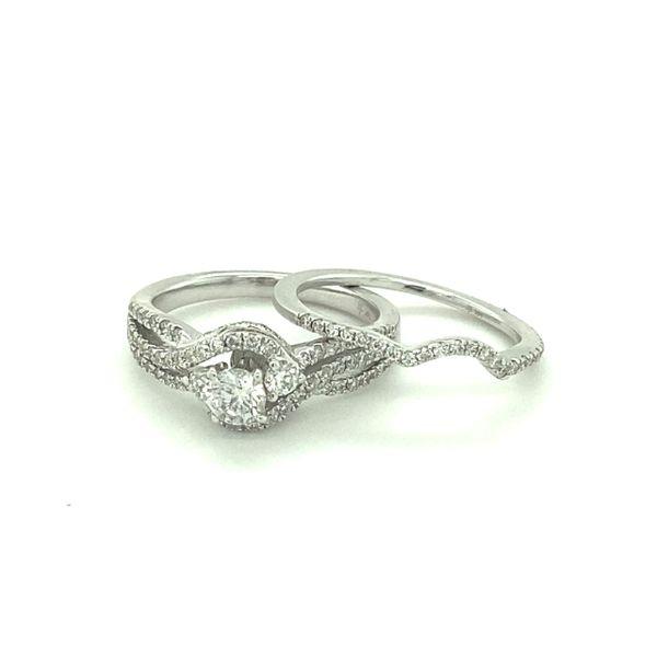 14 kt White Gold Diamond Bridal Set