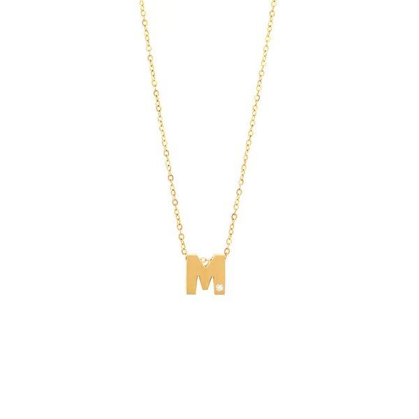 14 kt Yellow Gold Diamond Initial Pendant
