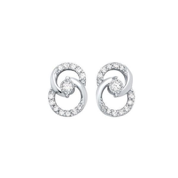 14 kt White Gold Diamond Earrings