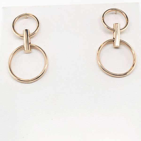 14 kt Yellow Gold Double-Circle Earrings