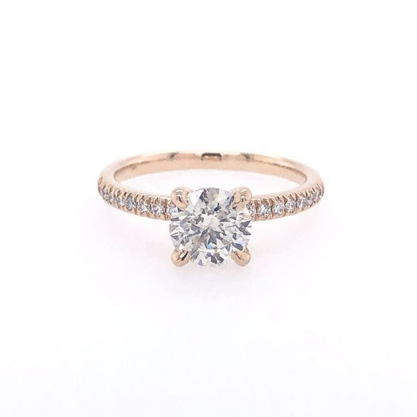 14 kt Yellow Gold Round Diamond Solitaire Engagement Ring