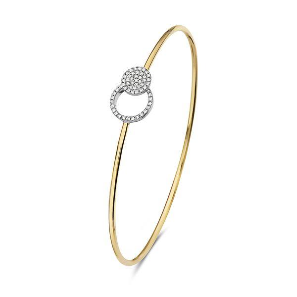 14 kt Two-Tone Diamond Bracelet