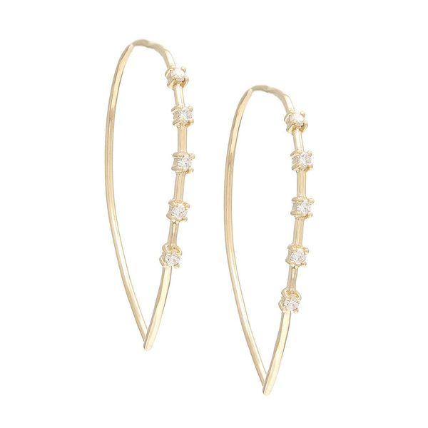 Yellow Gold Fashion Round Prong Diamond Earrings (Diamond Fashion Earring (14k Yg))