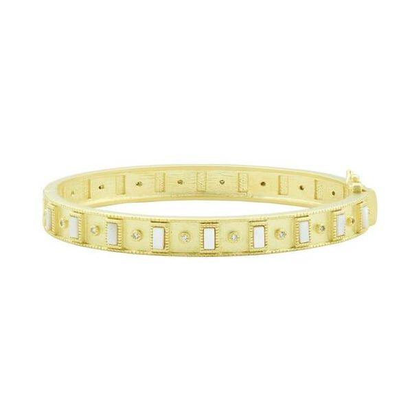 14K Gold Plated Studded Bangle