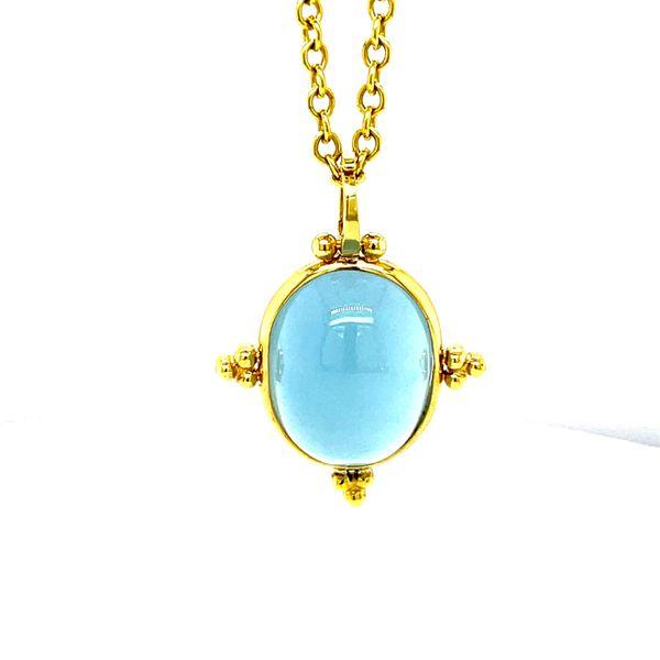 14 kt Yellow Gold Aquamarine Cabochon Pendant