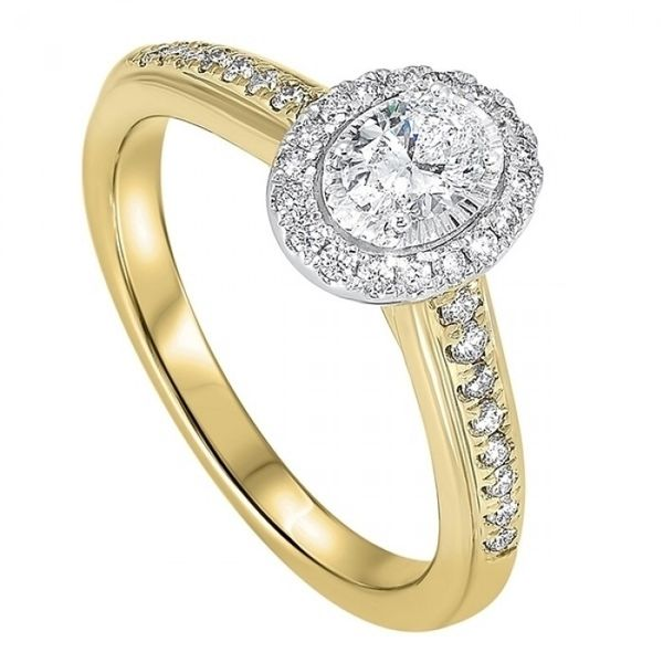 14 kt Yellow Gold Diamond Engagement Ring Complete
