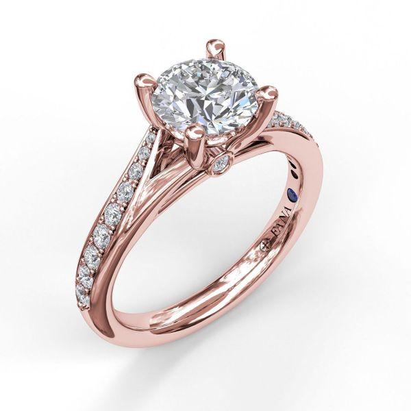 Rose  Gold Designer Split Band Engagement Ring