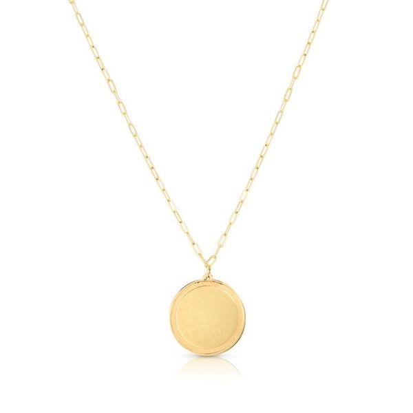 Gold Engravable Disc Necklace