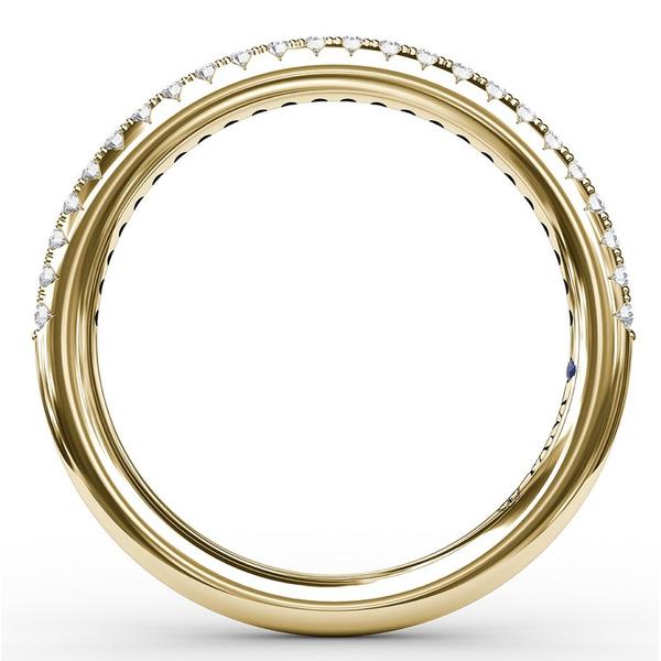 14 kt Yellow Gold Diamond Band Image 2 Parris Jewelers Hattiesburg, MS
