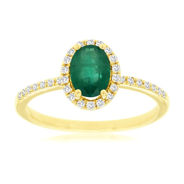 14 kt Yellow Gold Emerald Ring