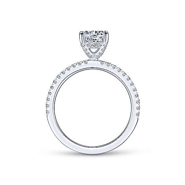 14kt White Gold Classic Engagement Ring Image 3 Polly's Fine Jewelry N. Charleston, SC