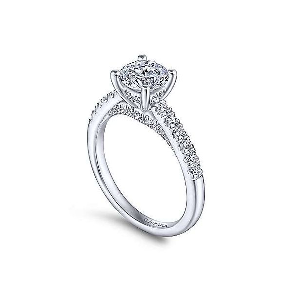 14kt White Gold Engagement Ring  Image 2 Polly's Fine Jewelry N. Charleston, SC