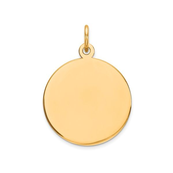 14K Yellow Gold Medium Plain Disc Polly's Fine Jewelry N. Charleston, SC