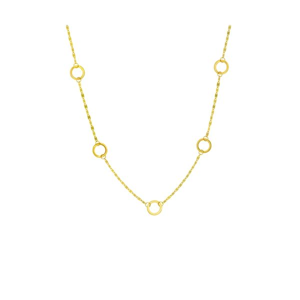 Yellow Gold Circle Station Necklace Polly's Fine Jewelry N. Charleston, SC