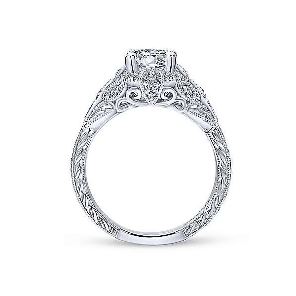 14kt White Gold Semi-Mount Image 3 Polly's Fine Jewelry N. Charleston, SC