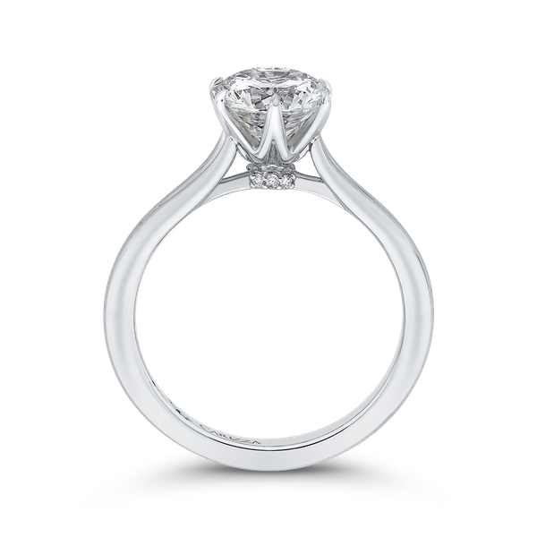 Complete Round Cut 1.04 ctw White Gold Diamond Engagement Ring Image 2 Polly's Fine Jewelry N. Charleston, SC