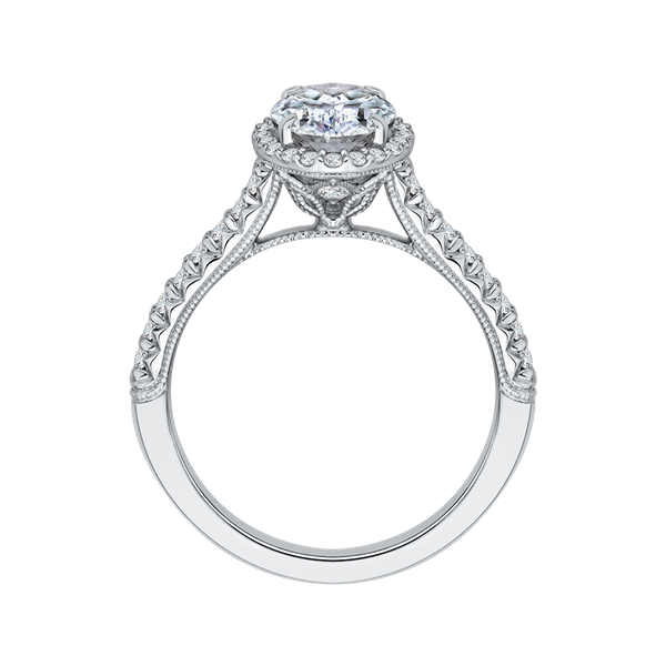 Complete Oval Cut 1.32 ctw White Gold Diamond Halo Engagement Ring Image 3 Polly's Fine Jewelry N. Charleston, SC